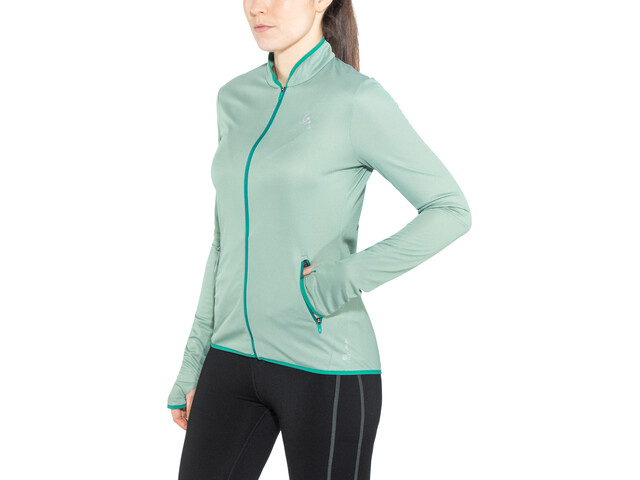 Odlo FLI Midlayer con zip intera Donna, bayou-surf spray stripes